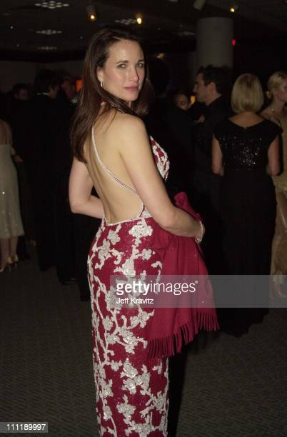 Andie MacDowell during The 58th Annual Golden Globes Miramax After Party in Beverly Hills California United States