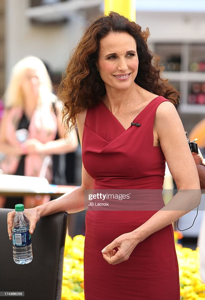 Andie MacDowell is seen at The Grove on July 24, 2013 in Los Angeles, California.