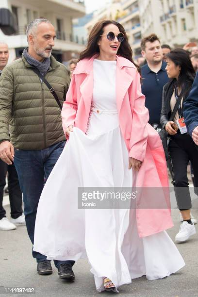 Andie MacDowell is seen during the 72nd annual Cannes Film Festival on May 19, 2019 in Cannes, France.