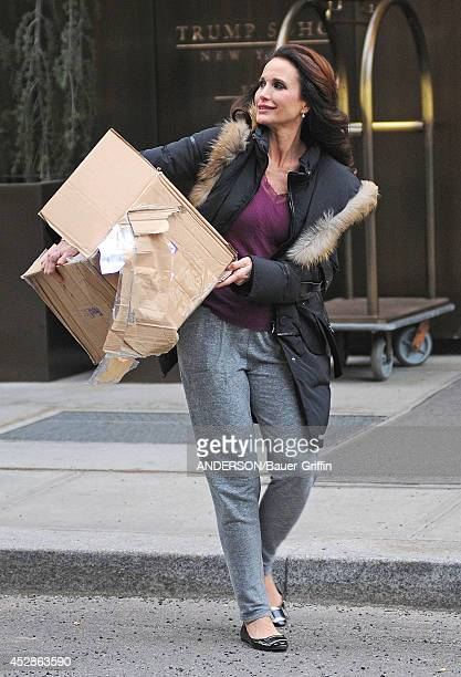 Andie MacDowell is seen on February 08 2012 in New York City