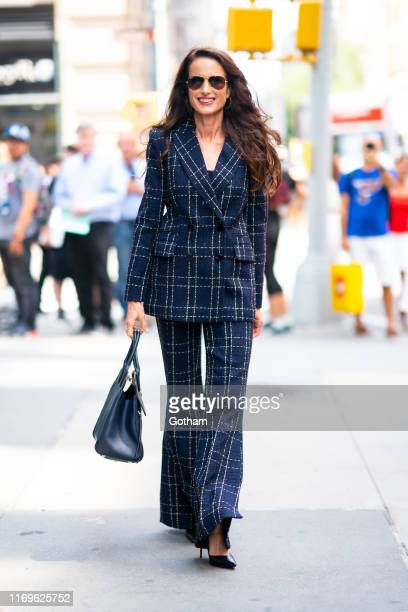Andie MacDowell is seen outside the Build Studio on August 22 2019 in New York City
