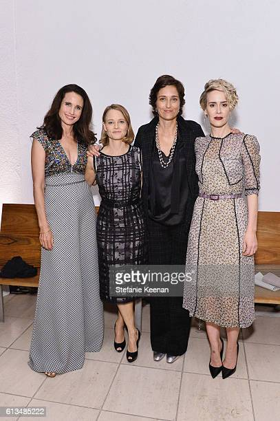 Andie MacDowell Jodie Foster Alexandra Hedison and Sarah Paulson all wearing Bottega Veneta attend the Hammer Museum 14th Annual Gala In The Garden...