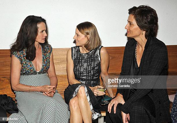 Andie MacDowell Jodie Foster and Alexandra Hedison all wearing Bottega Veneta attend the Hammer Museum 14th Annual Gala In The Garden with generous...