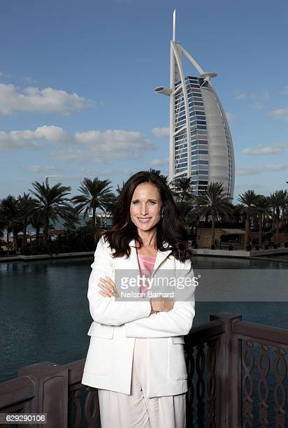Andie MacDowell poses during a portrait session on day six of the 13th annual Dubai International Film Festival held at the Madinat Jumeriah Complex...