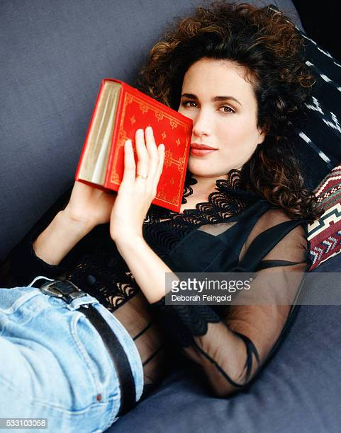 Andie Macdowell Reading