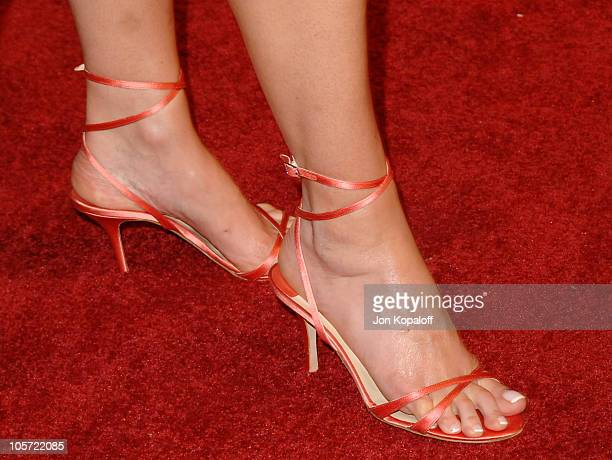 Andie MacDowell's shoes during 'Beauty Shop' World Premiere at Grauman's Chinese Theatre in Hollywood California United States