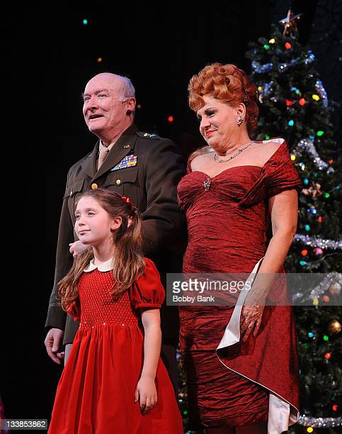 Andie Mechanic Lorna Luft and Edward James Hyland attends the White Christmas cast party at the Papermill Playhouse on November 20 2011 in Millburn...