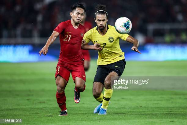 Andik Vermansah of Indonesian's in action during FIFA World Cup 2022 qualifying match between Indonesia and Malaysia at the Gelora Bung Karno stadium...