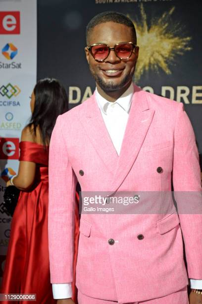 Andile Gumbi during the 13th annual South African Film and Television Awards at the Sun City Superbowl on March 02 2019 in Rustenburg South Africa...
