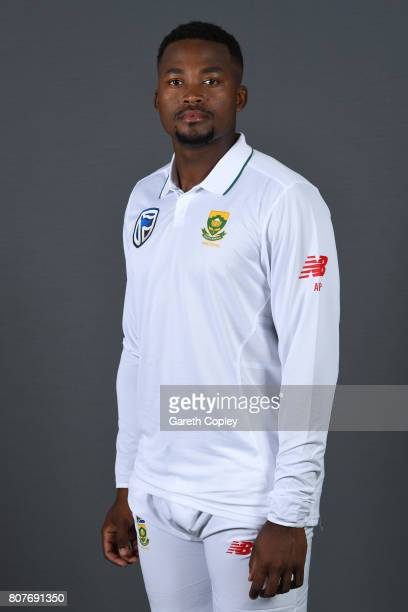 Andile Phehlukwayo of South Africa poses for a portrait at Lord's Cricket Ground on July 4 2017 in London England