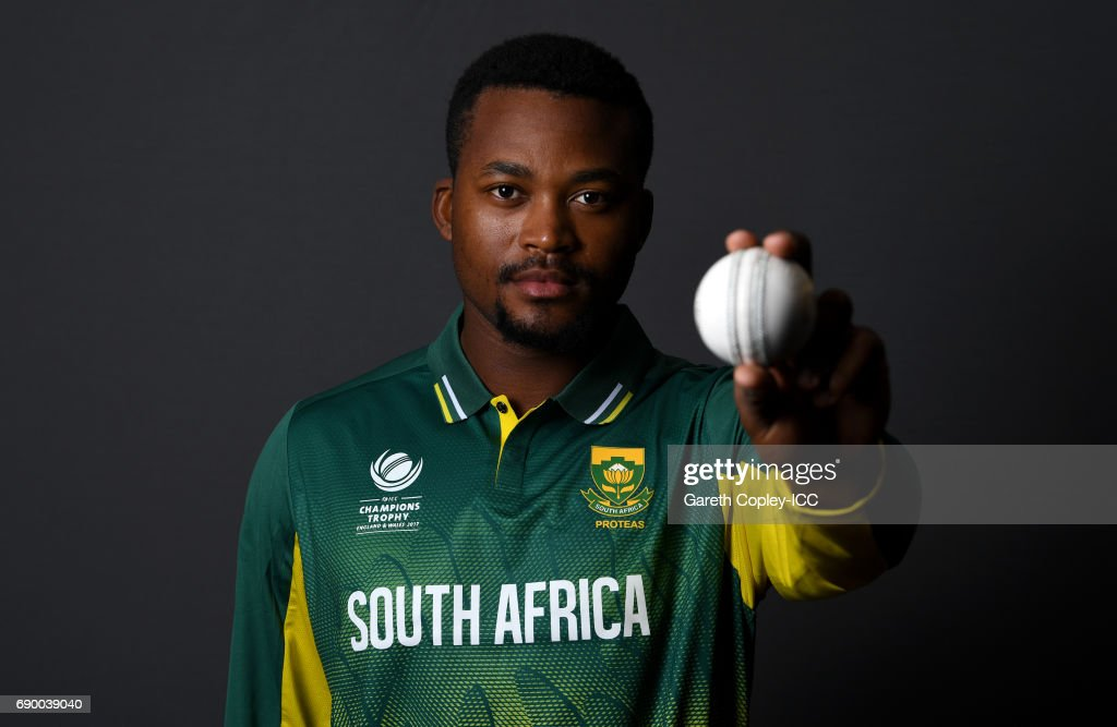 Andile Phehlukwayo of South Africa poses for a portrait at Royal Garden Hotel on May 30, 2017 in London, England.