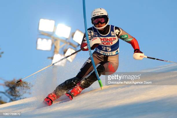 Ando Asa in action during the Audi FIS Alpine Ski World Cup Women's Slalom on November 17 2018 in Levi Finland
