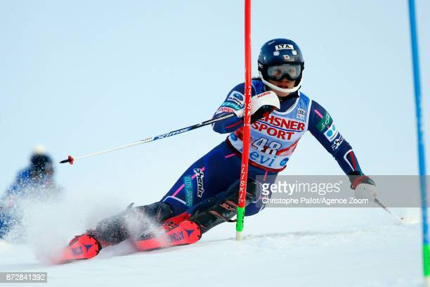 Ando Asa of Japan in action during the Audi FIS Alpine Ski World Cup Women's Slalom on November 11 2017 in Levi Finland
