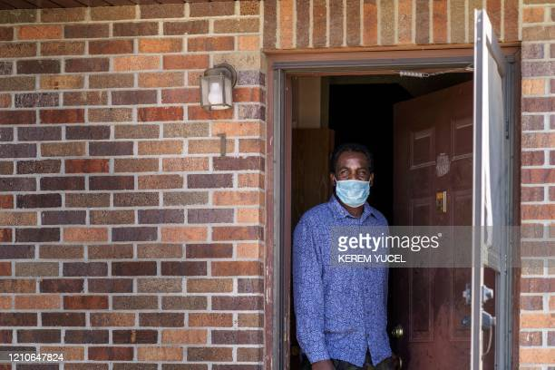 Andom Yosef who works at Smithfield Foods pork processing plant in South Dakota one of the countrys largest known coronavirus clusters is seen at his...