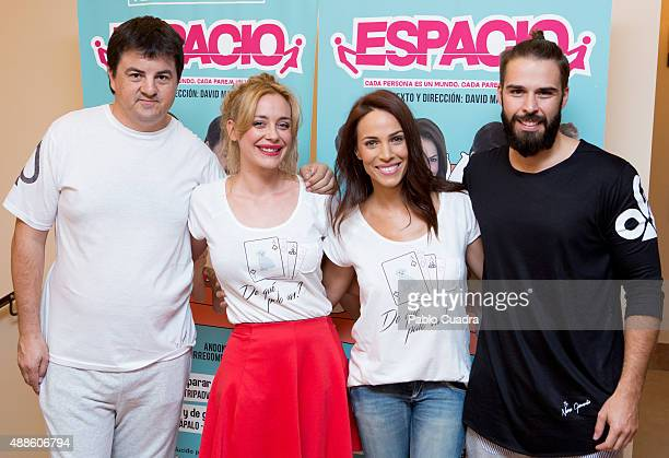 Andoni Agirregomezkorta Miriam Benoit Nerea Garmendia and Alex Barahona attend the 'Espacio' premiere at 'Nuevo Alcala theatre on September 16 2015...