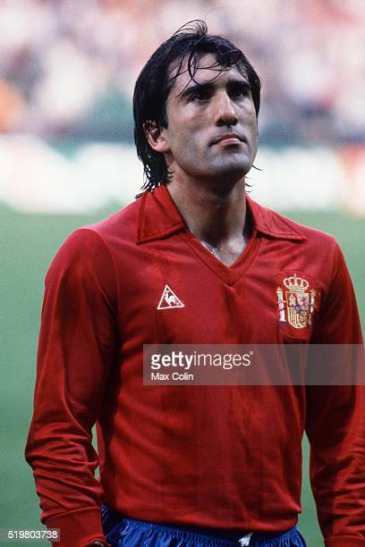 Andoni Goikoetxea during the Football European Championship between Romania and Spain at Stade Geoffroy Guichard SaintEtienne France on 14 June 1984