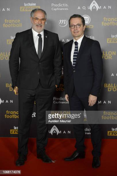 Andoni Zubizarreta and Jacques Henri Eyraud attend the Ballon D'Or ceremony at Le Grand Palais on December 3 2018 in Paris France