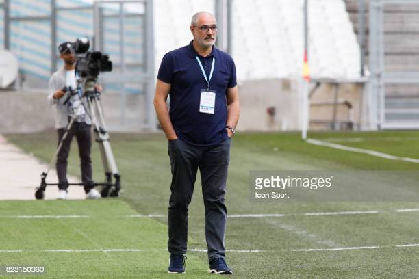 Andoni Zubizarreta of Marseille during the training session before the UEFA Europa League qualifying match between Marseille and Ostende at Stade...