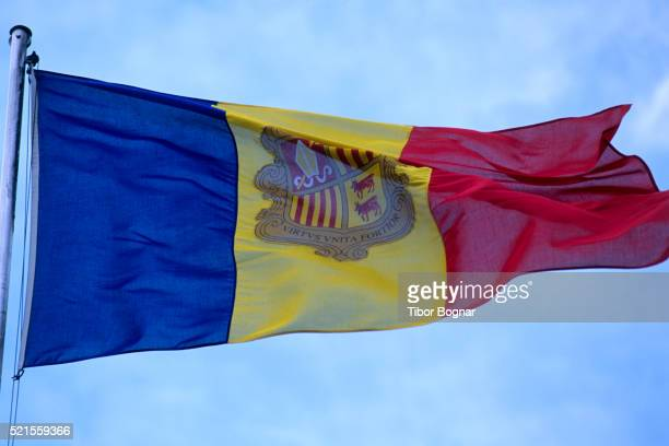 andorra, andorran flag - andorra stock pictures, royalty-free photos & images