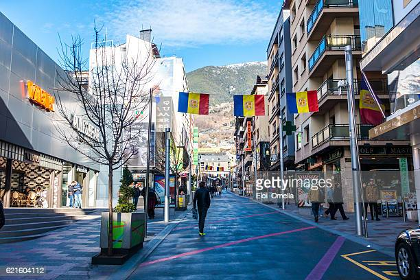 andorra escaldes engordany shops people shopping horizontal - andorra stock pictures, royalty-free photos & images