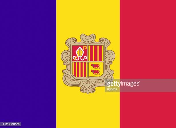 andorra flag - andorra stock pictures, royalty-free photos & images