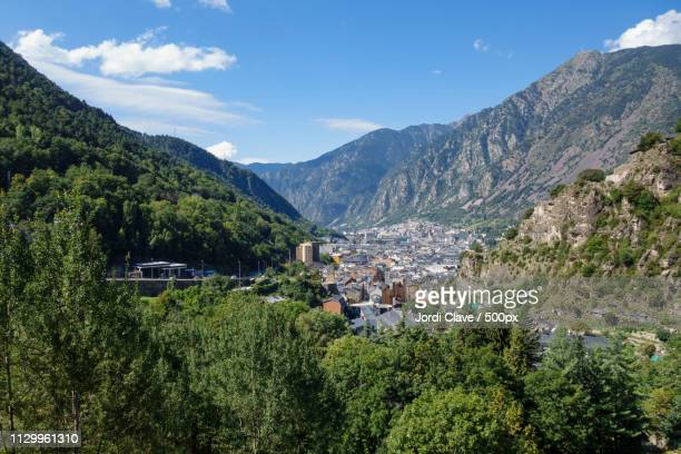 andorra la vella city - andorra la vella stock pictures, royalty-free photos & images