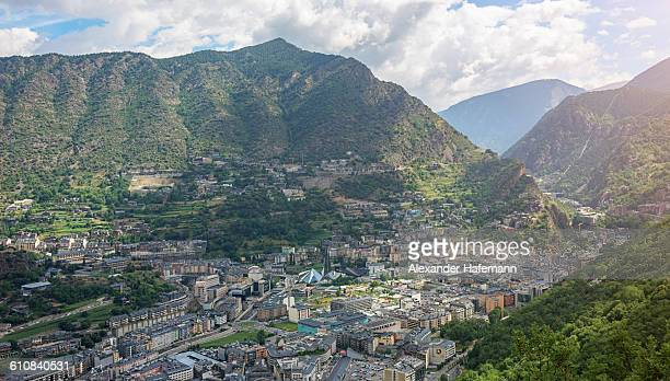Andorra la Vella City Pyrenees Mountains