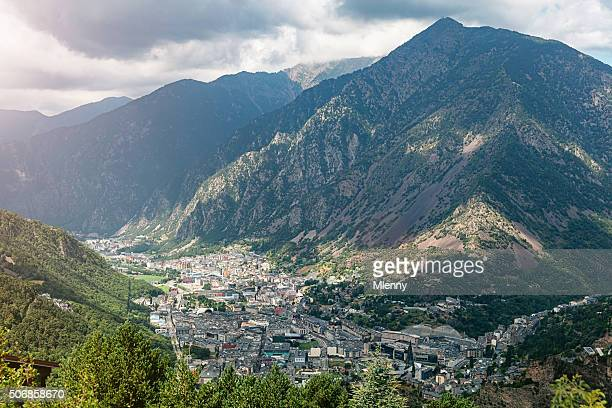 andorra la vella pyrenees mountains - andorra stock pictures, royalty-free photos & images