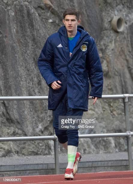 Ross Doohan in action for Scotland