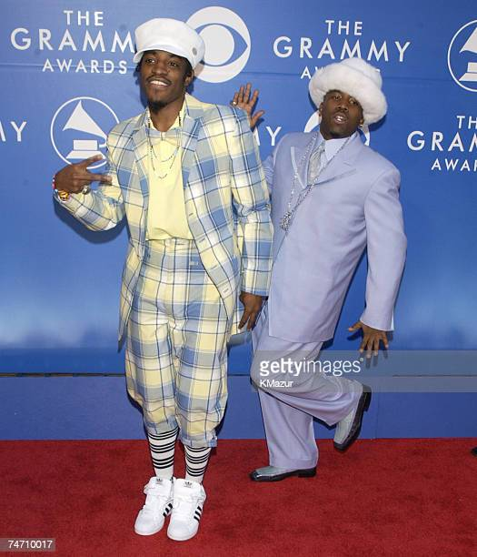 Andr 3000 and Big Boi of OutKast during 44th GRAMMY Awards Arrivals at the Staples Center in Los Angeles California