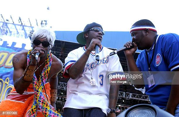 Andr 3000 Big Boi and Killer Mike of OutKast perform