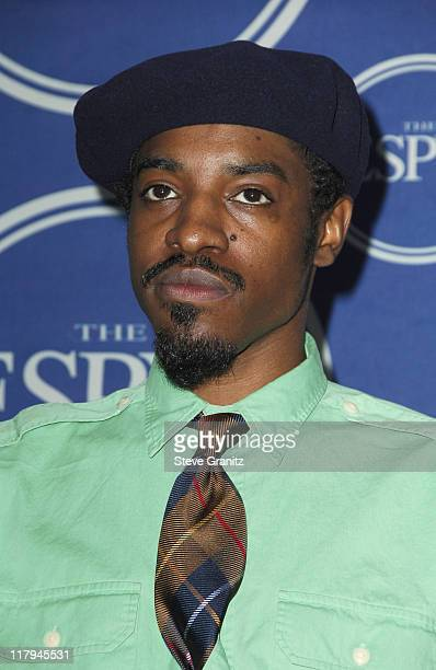 André 3000 of OutKast during 2006 ESPY Awards Press Room at Kodak Theatre in Los Angeles California United States