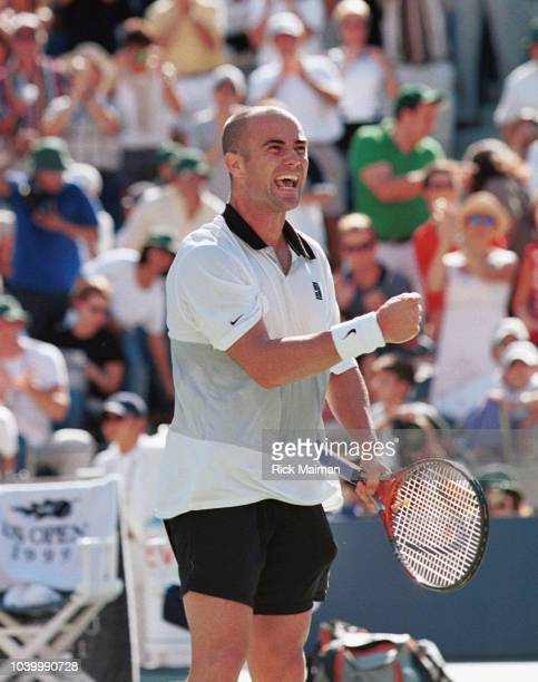 Andr Agassi wins the game