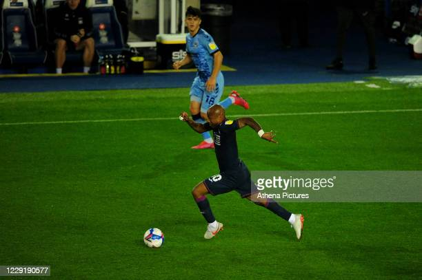 André Ayew of Swansea City in action during the Sky Bet Championship match between Coventry City and Swansea City at the St Andrews on October 20...