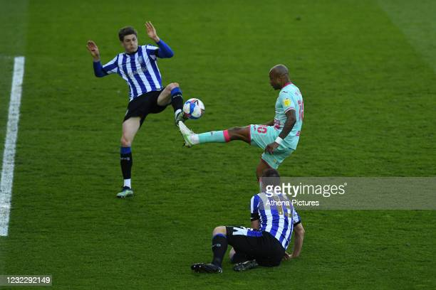 André Ayew of Swansea City in action during the Sky Bet Championship match between Sheffield Wednesday and Swansea City at the Hillsborough Stadium...