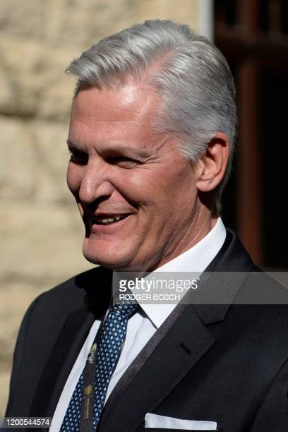 André de Ruyter, the Chief Executive Officer of Eskom, arrives ahead of the State of the Nation address by Cyril Ramaphosa, the President of South...