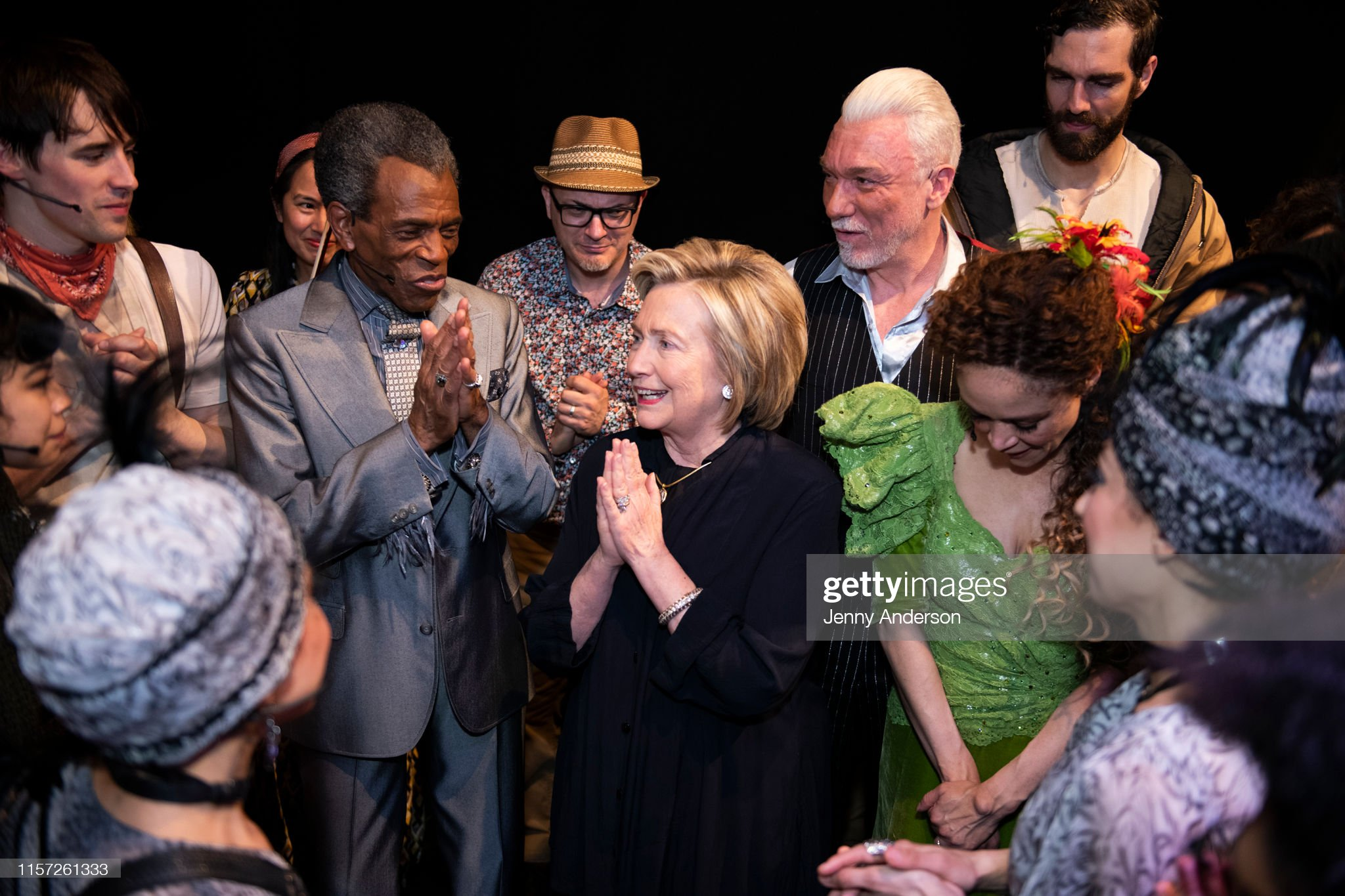 "Hillary Clinton Visits ""Hadestown"" On Broadway : News Photo"