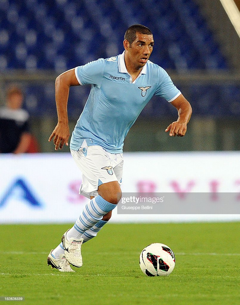 Andrè Dias of Lazio in action during the pre-season friendly match between SS Lazio and Getafe CF at Olimpico Stadium on August 11, 2012 in Rome, Italy.