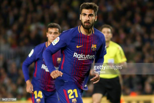 André Gomes during the spanish football league La Liga match between FC Barcelona and Leganes at the Camp Nou Stadium in Barcelona Catalonia Spain on...