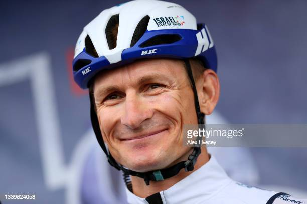 André Greipel of Germany and Team Israel Start-Up Nation prior to the 17th Tour of Britain 2021, Stage 8 a 173km stage from Stonehaven to Aberdeen /...