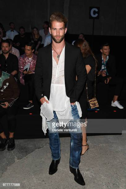 André Hamann attends Dsquared2 show during Milan Men's Fashion Spring/Summer 2019 on June 17 2018 in Milan Italy