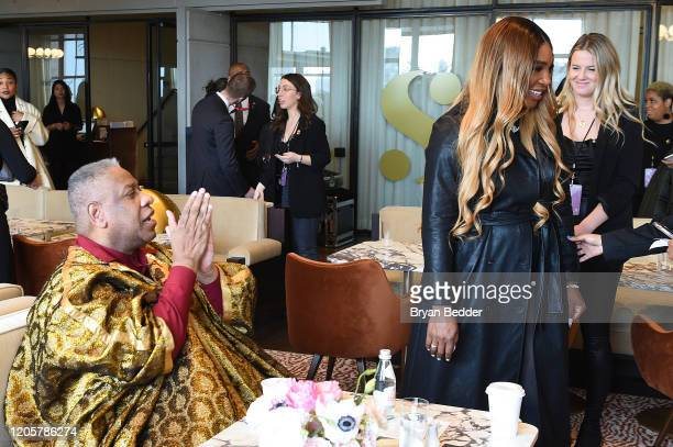 André Leon Talley and Serena Williams attend the S by Serena Spring 2020 Collection Reveal with Serena Williams and Anna Wintour during NYFW The...