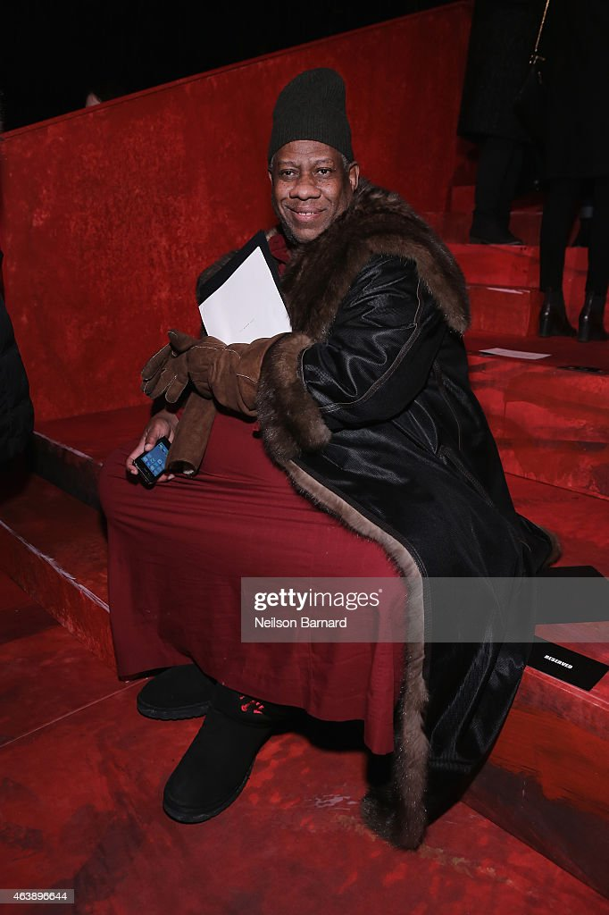 André Leon Talley attends the Marc Jacobs fashion show during Mercedes-Benz Fashion Week Fall 2015 at Park Avenue Armory on February 19, 2015 in New York City.