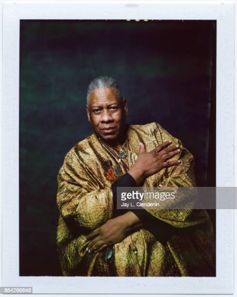 André Leon Talley former Vogue Magazine editoratlarge from the film 'The Gospel According to Andre' is photographed on polaroid film at the LA Times...