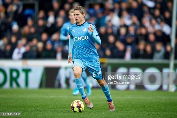 André Romer of Randers FC in action during the Danish 3F Superliga match between Randers FC and AGF Arhus at Cepheus Park Randers on October 06 2019...