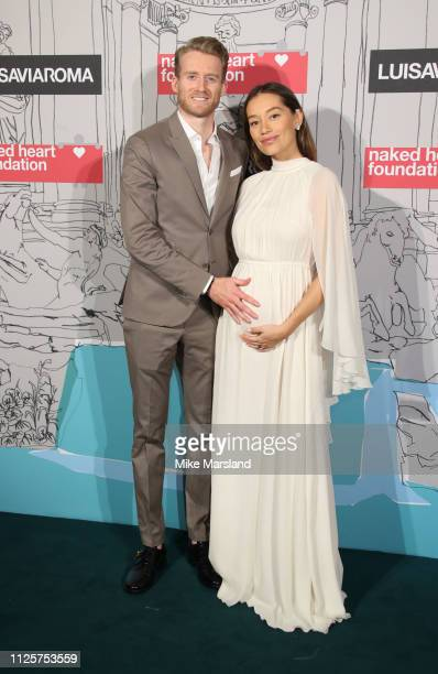 AndrŽ SchŸrrle and Anna Sharypova arrive at the Fabulous Fund Fair event during London Fashion Week February 2019 at the The Roundhouse on February...