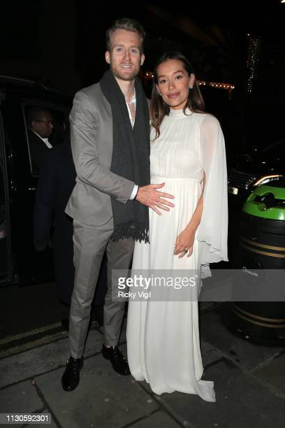 André Schürrle and Anna Sharypova seen attending London Fabulous Fund Fair at Roundhouse during LFW February 2019 on February 18 2019 in London...