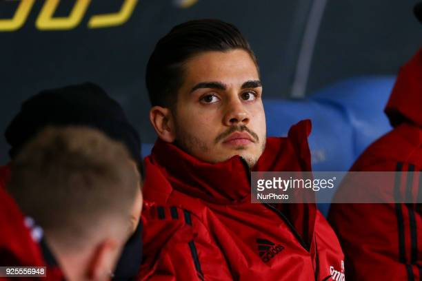 Andr Silva of Milan during the Italian Cup semi final match between Lazio and AC Milan at Stadio Olimpico Rome Italy on 28 February 2018