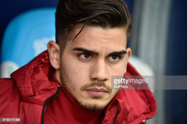 Andr Silva of Milan during the Serie A match between SPAL and AC Milan at Paolo Mazza Stadium Ferrara Italy on 10 February 2018