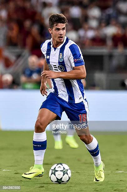 Andr Silva of Porto during the match between FC Porto v AS Rome UEFA Champions League playoff match in Rome Italy on August 23 2016